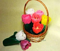 Цветы из мыла Подарочное мыло