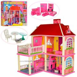 Кукольные домики для Барби. Домик для кукол с мебелью
