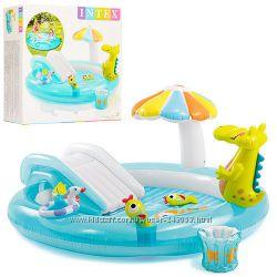 Надувные игровые центры, детские бассейны Intex