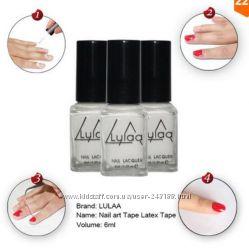 Защитная жидкая лента при дизайне ногтей