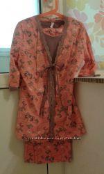 Набор Турция бриджы, футболка, халат Miss Victoriya