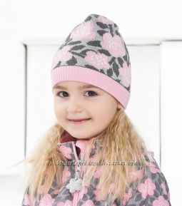 Демисезонная шапка Lenne Milka для девочки р. 50. 52,