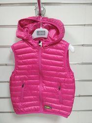 Утепленные  жилетки  с капюшоном  IDO Италия для девочек