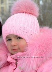 Зимняя шапка Арктик с натуральным бубоном