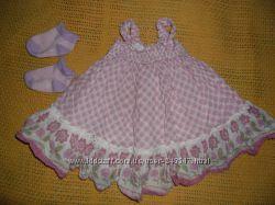 Пакет вещей девочке 0-3мес, боди, человечек, платьице