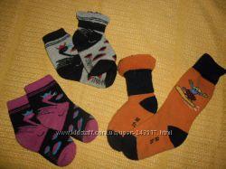 Махровые зимние носки с шерстью , гольфы 26-28р детские, 3 пары