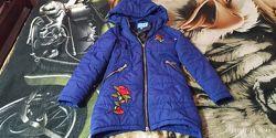 Осенняя куртка на девочку 8-9 лет