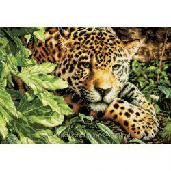 Отдыхающий леопард Leopard in Repose набор для вышивки Dimensions USA