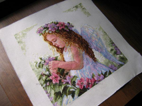 Вышивка крестом ангел цветочный 63
