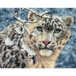 Snow Leopard Снежный барс набор для вышивки Dimensions