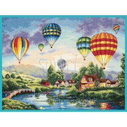 Набор для вышивки Dimensions. The Golden Collection. Balloon Glow 35213