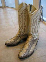 Ковбойские сапоги из натуральной кожи питона. производство Мексика