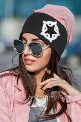 Стильная модная замшевая шапка шапочка под хвост