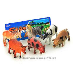Ферма наборы животные разные домашние, дикие, динозавры, символы года