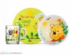 Luminarc Disney Winnie Garden  Набор -3пр - акции на детские наборы