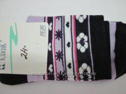 Носки женские высокие с рисунком разные