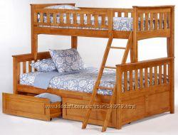 Двухъярусная кровать Жасмин с ящиками