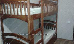 Двухъярусные кроватки с ящиками и матрасами  Акция