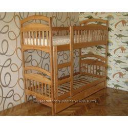 Двухъярусная кроватка с ящиками и матрасами  Акция