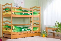 Двухъярусная кровать Cофия с ящиками   Акция