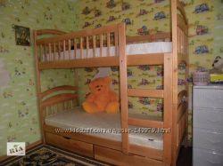 Двухъярусная кровать Карина с ящиками и матрасами  Акция