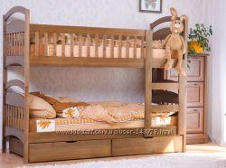 Двухъярусная кровать матрасы ящики