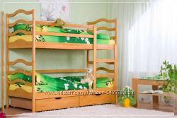 Двухъярусная кровать София  с матрасами и с ящиками