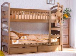 Двухъярусная кровать Карина по Акции  с матрасами и с ящиками