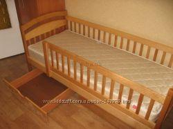 Детская кровать Карина с ортопедическим матрасом и с ящиками для игрушек