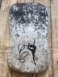 Подушка для гимнастики именная, черепашка, наспинник для растяжки