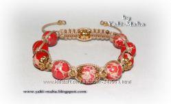 Красивенные браслеты Шамбала ручной работы.