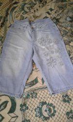 Боиджи с вышивкой джинсовые