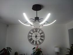 Современная LED люстра-трансформер. Потолочный светодиодный cветильник