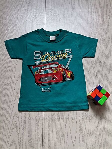 Детская футболка бирюзового цвета, от 1 до 3 лет