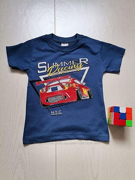 Детская футболка синего цвета, от 1 до 3 лет
