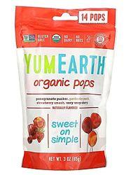 Супер скидка на органические леденцы YumEarth 14 леденцов, 85 г
