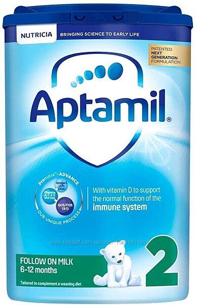 Aptamil 2 Follow on milk - от 6ти до 12 месяцев 6шт 800г