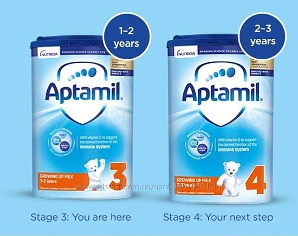 Aptamil 3 Toddler Milk - от 1 до 2х лет  6шт 800г