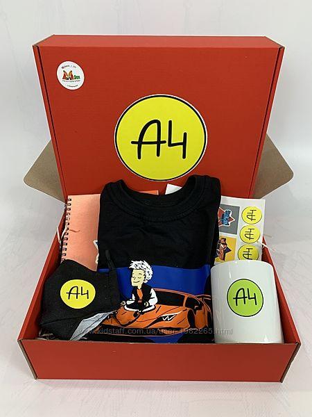 А4 набор - подарочный бокс Влад бумага А 4 футболка чашка маска