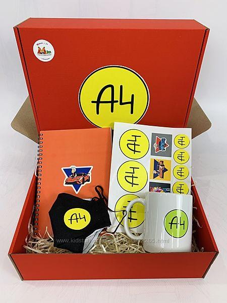 А4 набор - подарочный бокс Влад бумага А 4 чашка маска