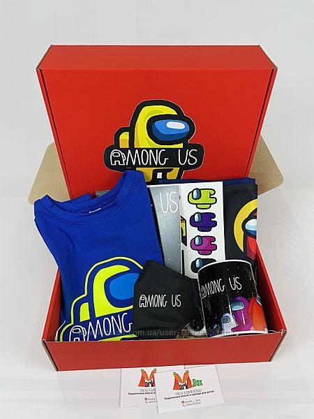 Among Us набор - подарочный бокс Амонг Ас maxi box футболка сумка чашка мас