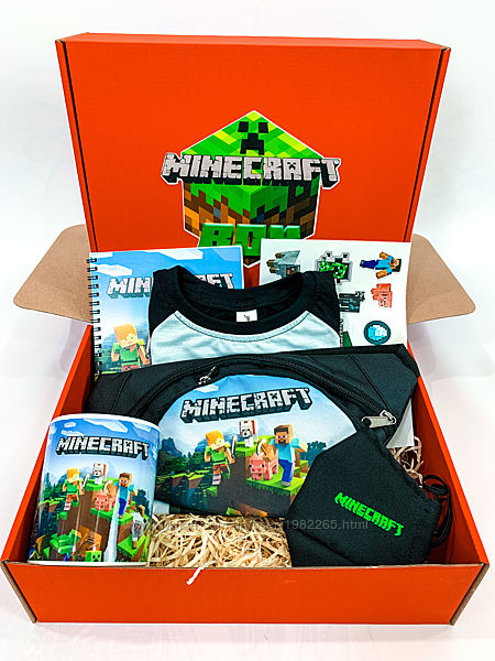 Minecraft Box - подарочный набор Майнкрафт бокс - футболка бананка