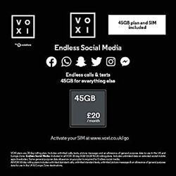 Сим карта Voxi от Vodafone в роуминг . Цена 250 грн. VOXI от Vodafone