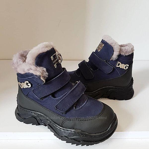 Кожаные зимние ботинки Dolce &Gabbana
