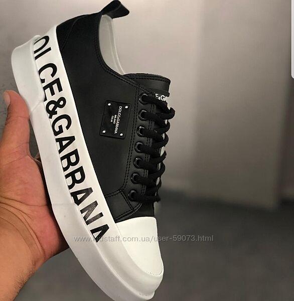Кожаные кроссовки Dolce &Gabbana