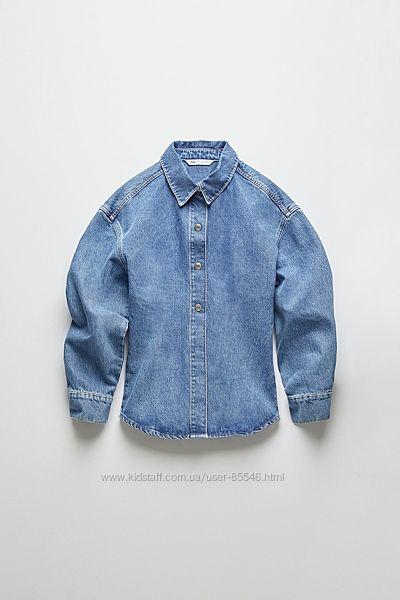 Джинсовая рубашка-пиджак-куртка zara р. s