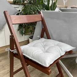 Подушки на стулья однотонные
