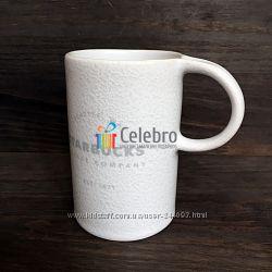 Керамическая кружка Starbucks в форме цилиндра с ручкой сверху, бело-серая