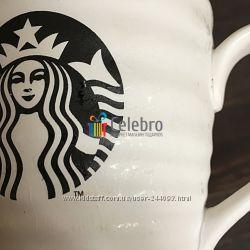 Керамическая кружка Starbucks волнистая, белая 355мл