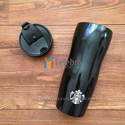Термокружка Stainless Steel Tumbler - Onyx - Черная глянцевая 355мл